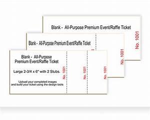 Blank Ticket Templates - Best Ticket Printing