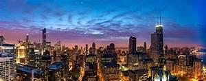 Chicago buildings skyscrapers view night city skyscraper ...