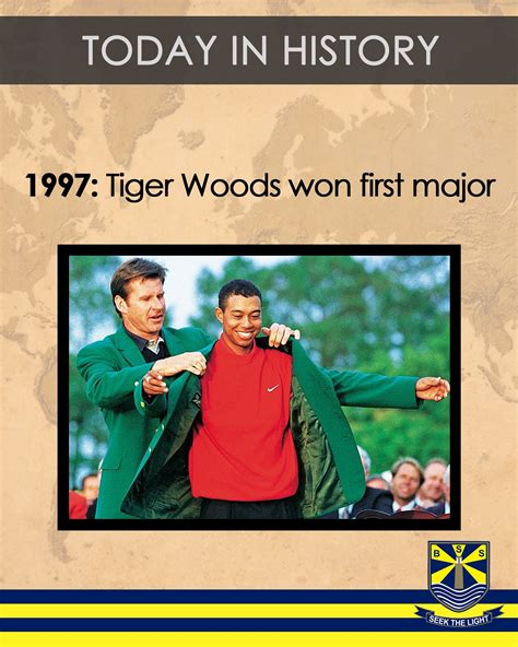 TodayInHistory 13th April 1997: 21-year-old Tiger Woods ...