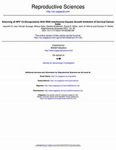 (PDF) Silencing of HPV 18 Oncoproteins With RNA ...