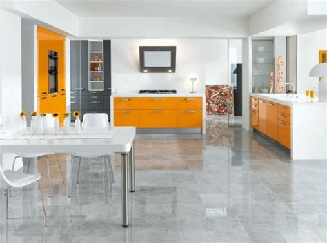 deco cuisine orange deco cuisine moderne orange