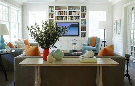 built  media cabinet transitional living room