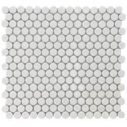 merola tile hudson penny round white 12 in x 12 1 4 in x