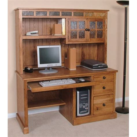 home computer desk with hutch computer desk and hutch rcwilley image1 800 jpg