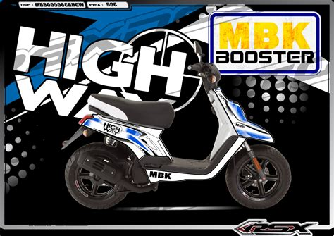 mbk booster highway white mbk mbbo0508crhgwbl rsx design kit deco racing