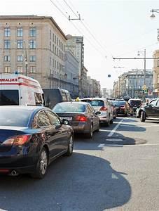 Traffic Jam On Tverskaya Street In Moscow, Russia ...