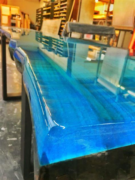 epoxy resin ocean blue   resin furniture epoxy