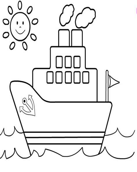 gambar mewarnai kendaraan laut