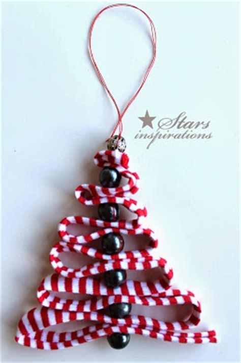 diy ribbon bead christmas tree ornaments beesdiycom