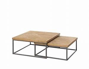 Table Basse Bois Metal : table basse gigogne bois et metal le bois chez vous ~ Teatrodelosmanantiales.com Idées de Décoration