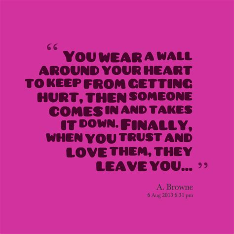 Putting A Wall Around Your Heart Quotes