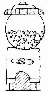 Gumball Machine Coloring Gum Bubble Drawing Printable Getdrawings Getcolorings sketch template