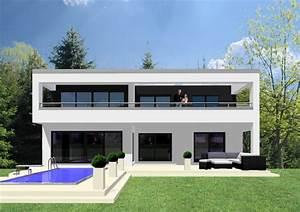 Fertighaus Mit Dachterrasse : kubushaus im bauhausstil in fertigbauweise berdachte ~ Lizthompson.info Haus und Dekorationen