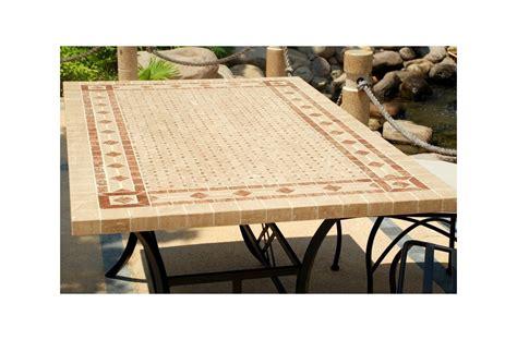 cuisine design italien table mosaïque en toscane de jardin en fer forgé marbre et travertin