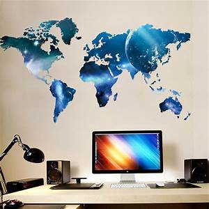 Aliexpress buy d world map outer space star sky