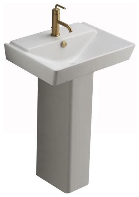 Kohler Reve Pedestal Sink by Kohler K 5152 1 0 Reve 23 Quot Lavatory Basin And Pedestal In