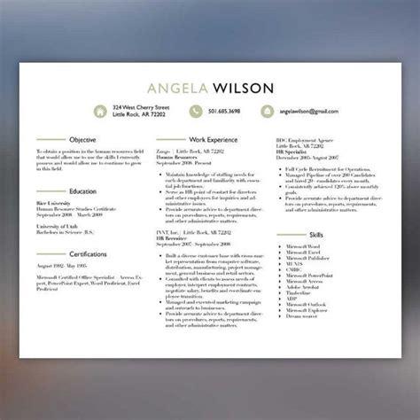 horizontal hr recruiter resume template by scribblednapkin