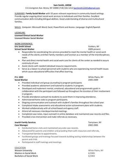 luck with the school social worker resume sle
