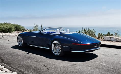 mercedes maybach vision  cabriolet electric super luxury