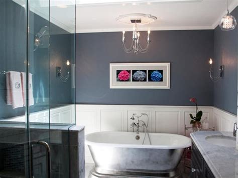 Blue Gray Bathroom, Gray Master Bathroom Ideas Blue And