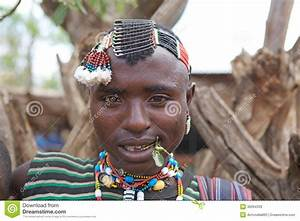 African tribal man editorial stock image. Image of african ...