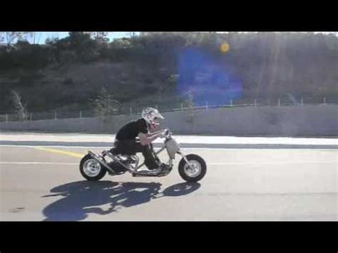 ruckus style custom stretched scooter test drive youtube