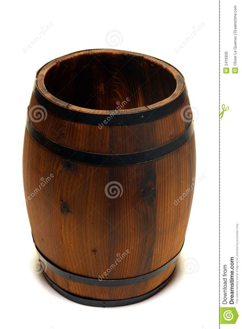 whisky barrel  wine cask wood container stock image