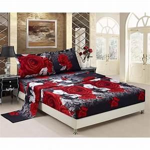 3d, Bed, Sheet, Set, Queen