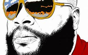 Aliexpress com : Buy Music RICK ROSS gangsta rapper rap