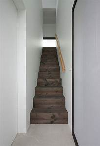 Simple Wooden Enclosed Staircase