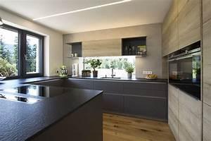 U Form Küchen : k che in u form fronten in eiche kombiniert mit anthrazit mit steinarbeitsplatte planung ~ A.2002-acura-tl-radio.info Haus und Dekorationen