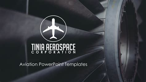 clean airplane premium powerpoint template slidestore
