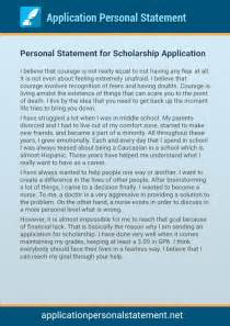 personal statements for applications sles scholarship application essays