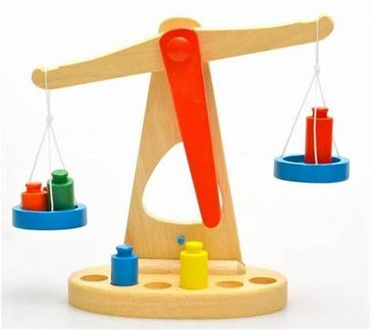 Balance Scale Clipart Toy Wooden Beam Math