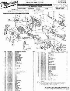 Milwaukee 5378-20 897e Parts  2 Hammer