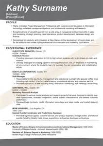 Marketing Resume Exles 2012 by Sle Resume Marketing Director Creative Resume Template