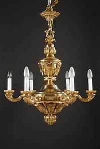 Lustre En Plume : lustre en bronze d cor de mascarons xixe si cle ~ Teatrodelosmanantiales.com Idées de Décoration