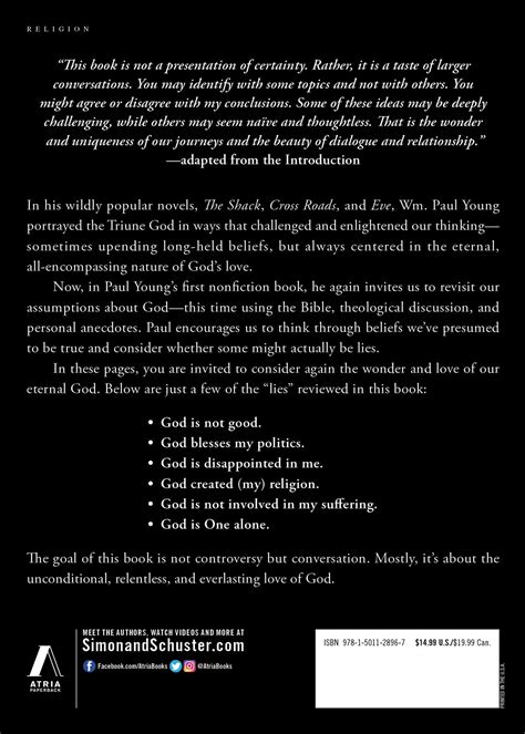 Permalink to Lies We Believe About God By WM. Paul Young