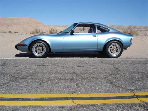 Opel Gt Source by Classic Light Blue Opel Gt With Gold Bbs Rims Opel Gt