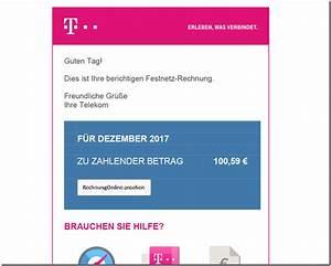 Telekom Rechnung Online Ansehen : warnung gef lschte telekom rechnung dezember 2017 mimikama ~ Themetempest.com Abrechnung