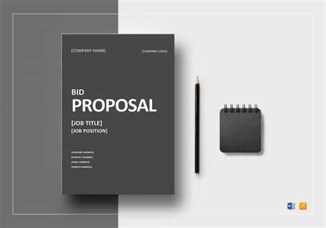 bid proposal templates sample templates