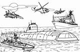 Submarine Coloring Pages sketch template