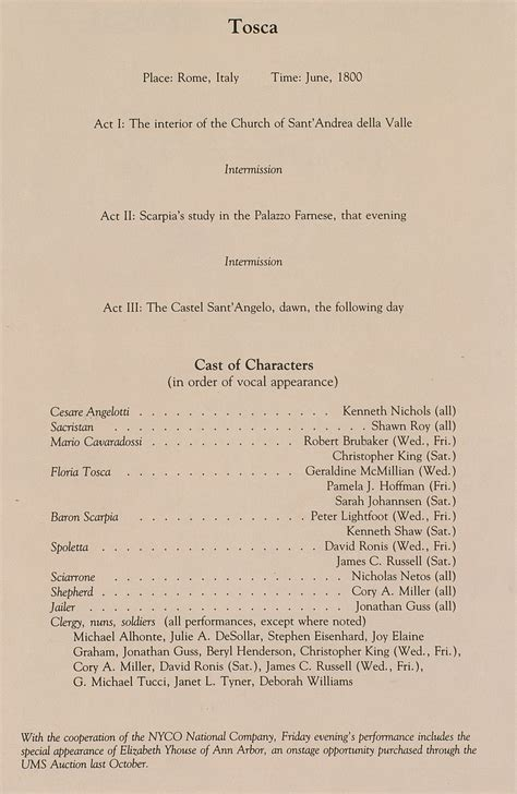 Musical Program Template by Ums Concert Program February 12 14 15 1992 New York