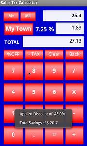 8 6 Sales Tax Chart Amazon Com Sales Tax Calculator Appstore For Android