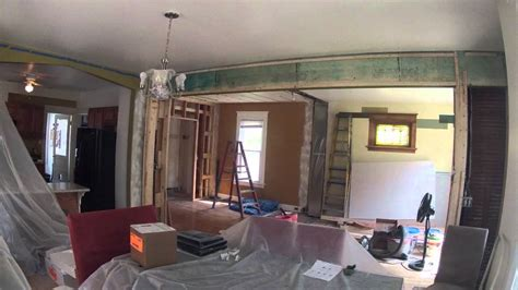 house living room remodel time lapse youtube