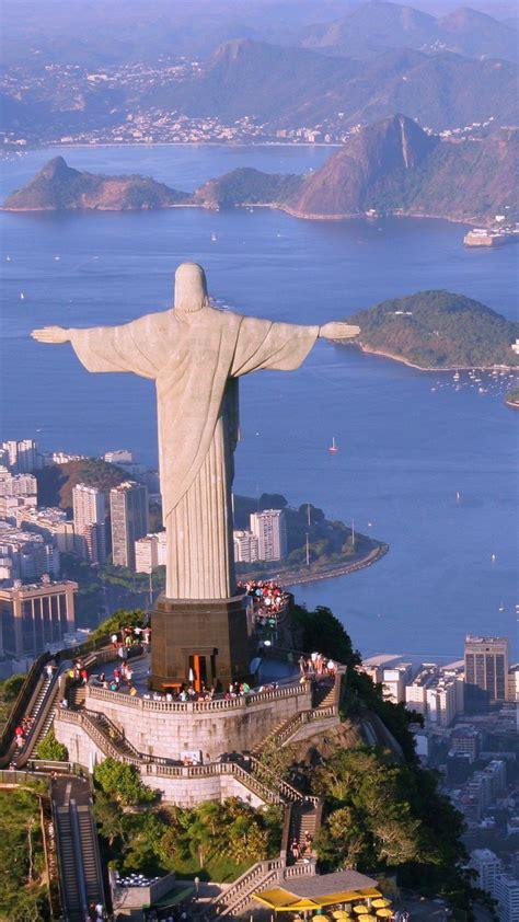 wallpaper christ  redeemer rio de janeiro brazil