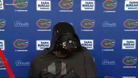 Dan Mullen celebrates Gators win, Halloween as Darth Vader ...