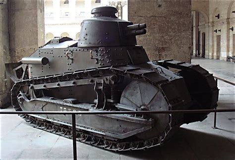 Surviving Ww1 French Renault Ft 17 Tank In Paris Musee De