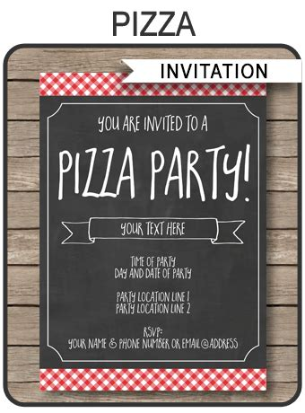 pizza party invitation template pizza party invite