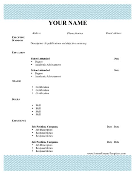 Resume Pattern by Pattern Resume Lines Template